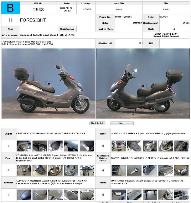HONDA FORESIGHT 250 продажа NMB6963  (art-00111039) 3