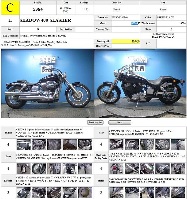 HONDA SHADOW 400 SLASHER описание NMB7606  (art-00113711) 3
