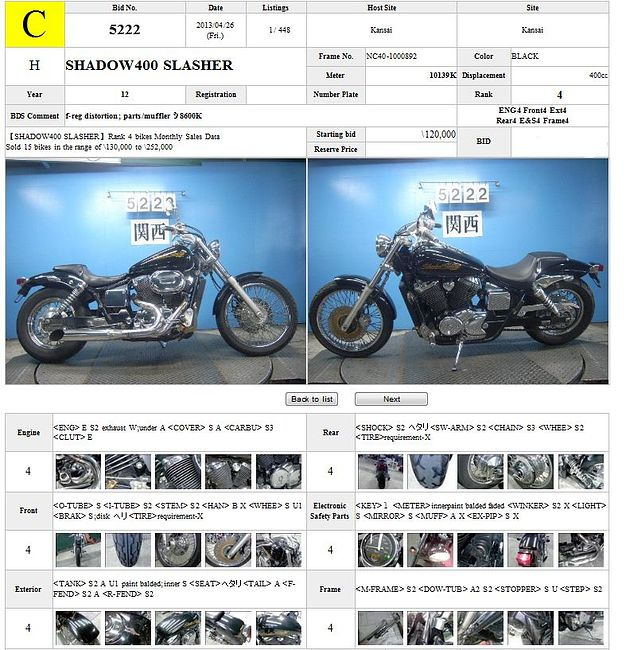 HONDA SHADOW 400 SLASHER описание NMB8041  (art-00116681) 3