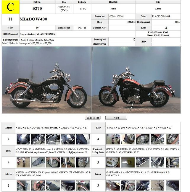 HONDA SHADOW 400 описание NMB8127  (art-00117089) 3