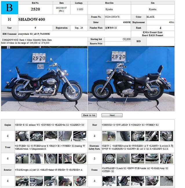 HONDA SHADOW 400 описание NMB8175  (art-00117685) 3