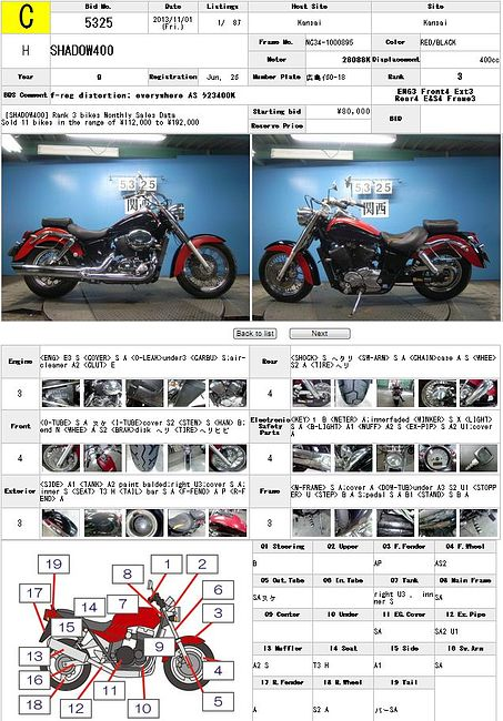 HONDA SHADOW 400 описание NMB8792  (art-00122437) 3
