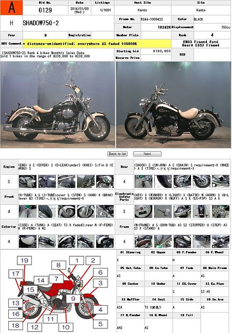 HONDA SHADOW 750 описание NMB9260  (art-00025389) 3