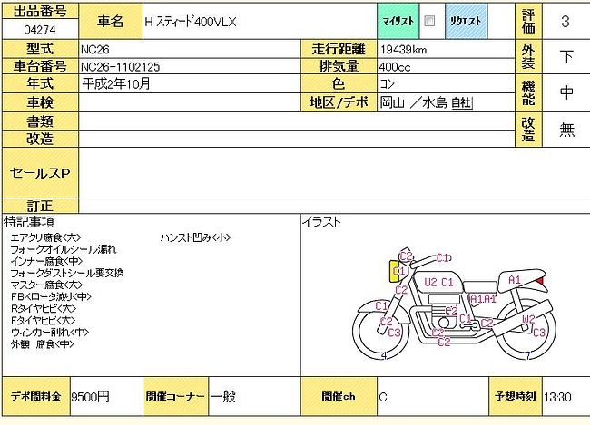 HONDA STEED 400 продажа NMB8242  (art-00119095) 3