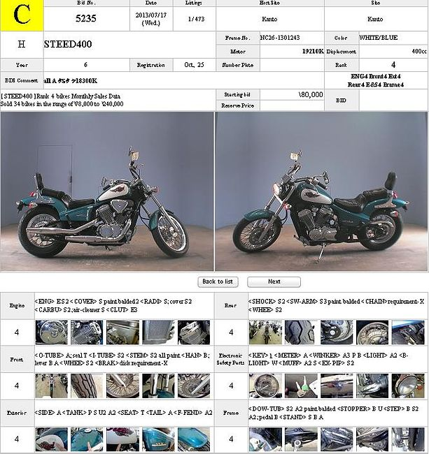 HONDA STEED 400 продажа NMB8302  (art-00119158) 3