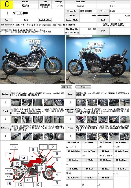 HONDA STEED 400 описание NMB8734  (art-00122078) 3
