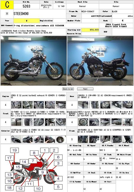 HONDA STEED 400 описание NMB8791  (art-00122436) 3
