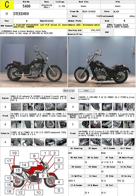 HONDA STEED 400 описание NMB9263  (art-00025393) 3