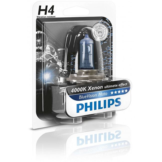 Лампа H4 60/55W 12V Blue Vision 4000K Philips