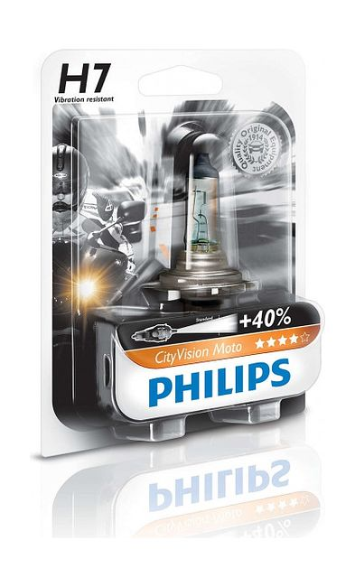 лампа H7 55W 12V City Vision +40% Philips цена   (art-00139611) 1