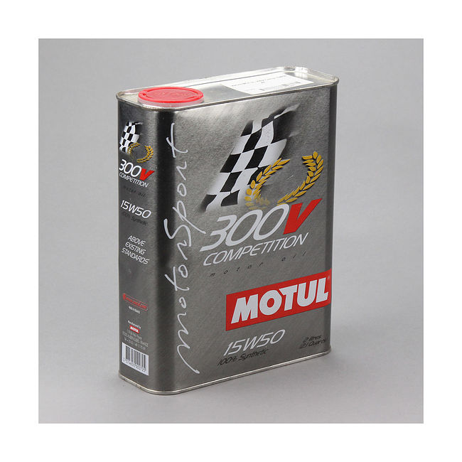 Масло Motul 300V 4T Competition 15W50, 2 л, синтетика