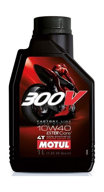 масло Motul 300V 4T Factory Line Road Racing 10W40, синтетика, 1 л