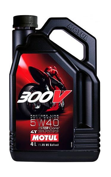 масло Motul 300V 4T Factory Line Road Racing 5W40, синтетика, 4 л цена 104115  (art-00128386) 1