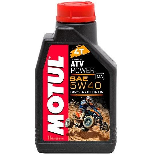 масло Motul ATV Power 4T 5W-40, синтетика, 1л