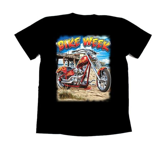 футболка байкерская Bike week, XL цена 17131D2 XL  (art-00146892) 1