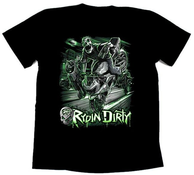 футболка байкерская Rydin dirty, 2XL цена 11497D0 2XL  (art-00146863) 1