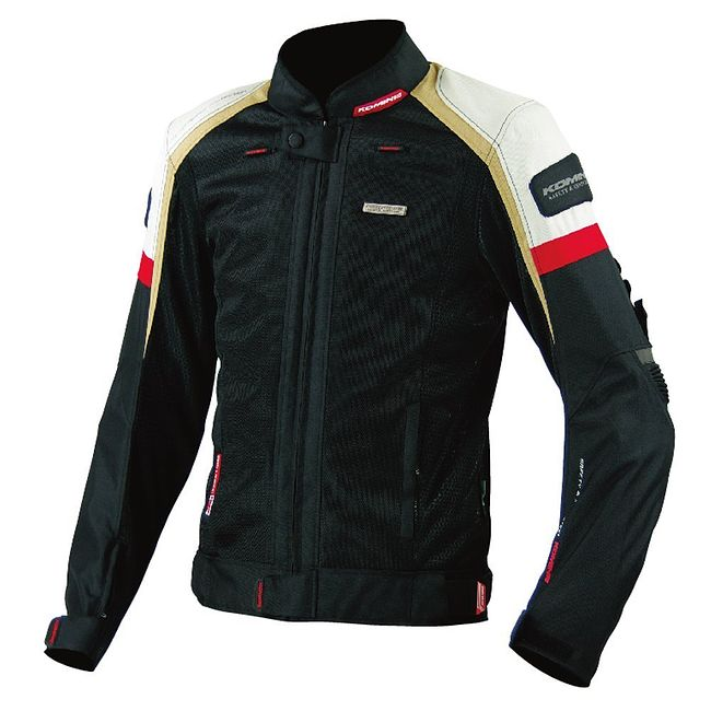 Мотокуртка Komine JK-047 Slim Fit Riding Mesh blk/ivo XL