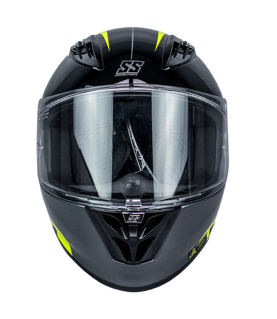 шлем интеграл Speed and Strength SS3000 Light speed, чёрно-жёлтый, 2XL