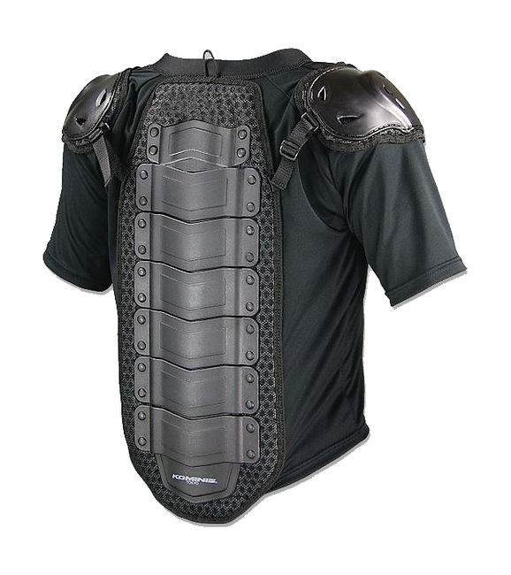 Komine SK-630 Body armored t-shirt, black, M, sale, 046300010090,  art-11016781(2) | partsmoto.com