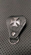 Keychain cross black