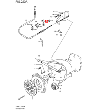 Clamp,clutch cable,no.3