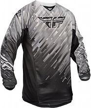 Fly Racing 2015 Kinetic Glitch Race Jersey (youth), black/grey, L