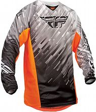 Fly Racing 2015 Kinetic Glitch Race Jersey (youth), black/white/orange, XL