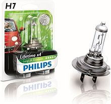 Лампа H7 55W 12V Long Life, Philips