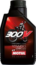 Масло Motul 300V 4T Off Road 15W60, синтетика, 1 л