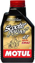 Масло Motul Scooter Power  4T 5W40, синтетика, 1 л