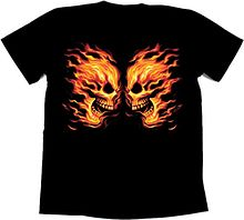 Футболка байкерская Flame faceoff, 2XL