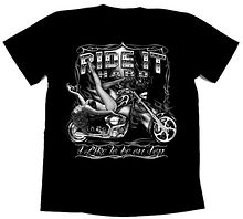 Футболка байкерская Ride it hard, 2XL