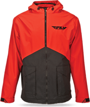 Fly Racing Pit Jacket, black/red, 2XL