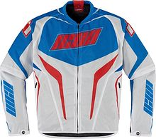 Icon Hooligan Jacket, white/red/blue, L