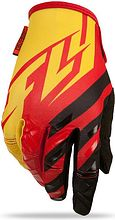 Fly Racing Kinetic MX Motocycle Gloves, red/black/yellow, XS