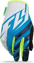 Fly Racing Kinetic MX Motocycle Gloves, blue/light blue, M
