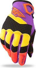 Fly F-16 Motocycle Gloves, yellow/purple, 11