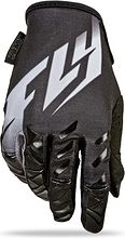 Fly Racing Kinetic MX Motocycle Gloves, black, M