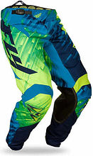 Fly Kinetic Glitch Kids Pants, blue/yellow, 20