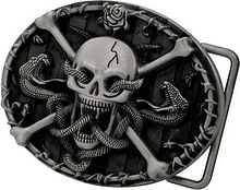 Buckle on the belt Skull & Crossbones with Snakes