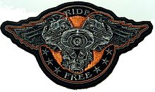 "Шеврон ""Ride Free Wings"""