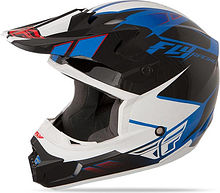 Fly Racing Kinetic Impulse Kids Helmet, blue/black/white, M