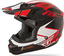 Fly Racing Kinetic Impulse Kids Helmet, red/black/white, M