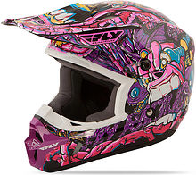 Fly Kinetic Jungle Kids Helmet, purple, S
