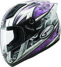 G-Max GM69 Integral Helmet, white/purple, XS