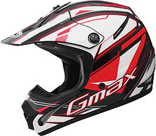 G-Max GM46.2 Traxxion Kids Helmet, black/red/white, M
