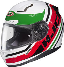 HJC CL-17 Victory Integral Helmet, white/red/green, M