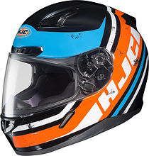 HJC CL-17 Victory Integral Helmet, orange/blue/black, M