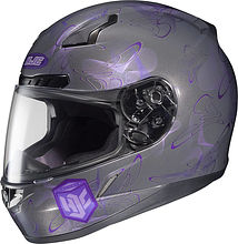 HJC CL-17 Ladies Integral Helmet, grey/purple, S