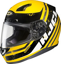 HJC CL-17 Victory Integral Helmet, yellow/black, S